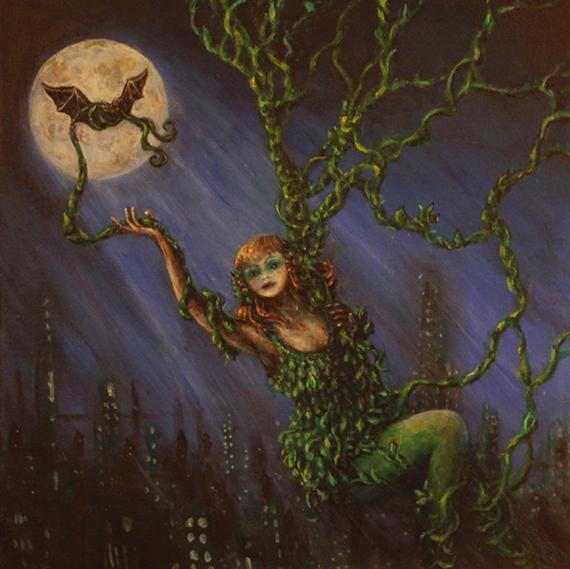 Poison Ivy batman tribute painting
